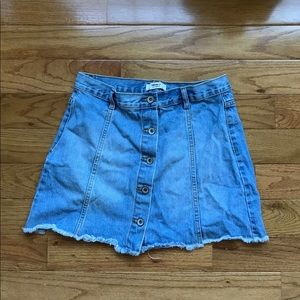 Forever21 button down jean skirt size 28